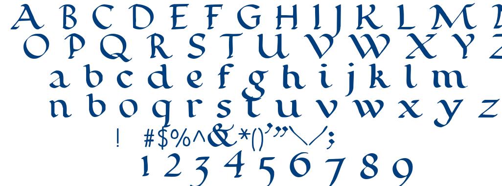 Calligraphy Roman Font Writing Rustic Capitals
