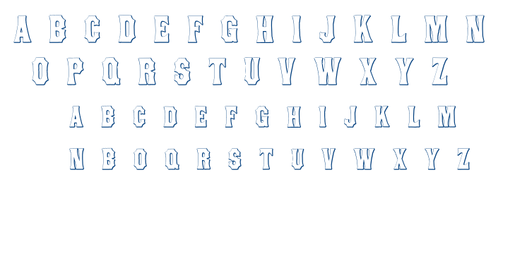 Concave Tuscan font