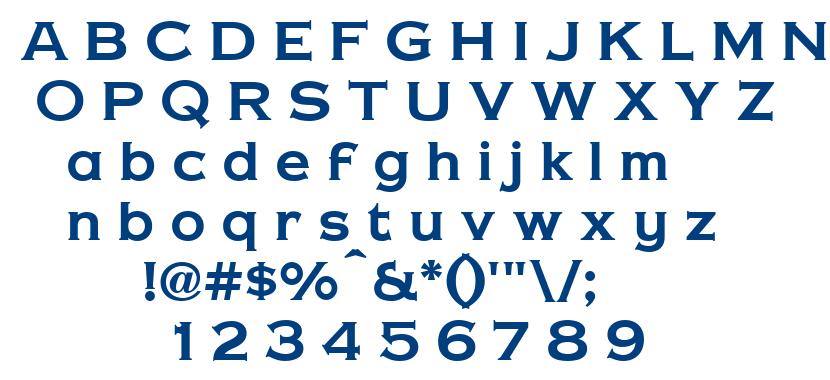 Copper Penny DTP font