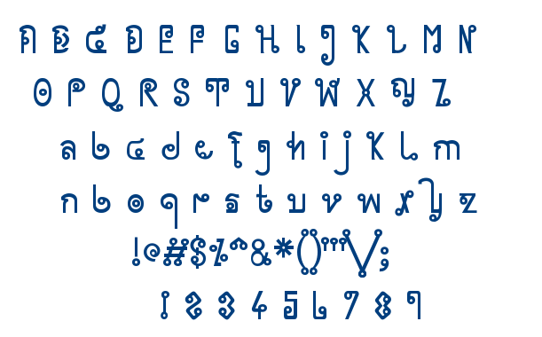 Cyclin font