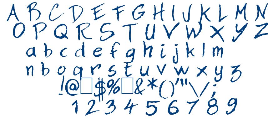 Dan Hand font