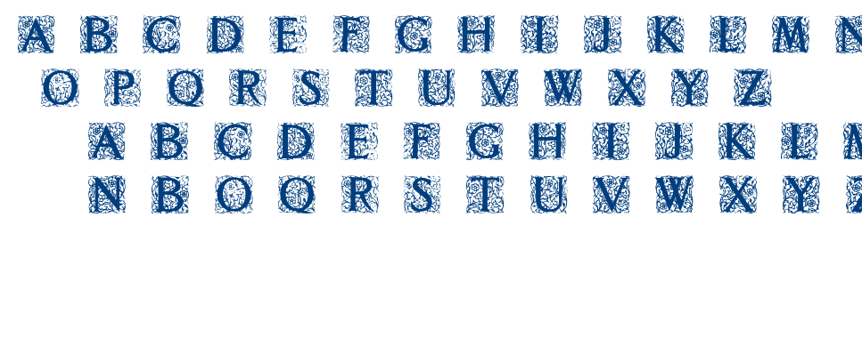Decorated Roman Initials font