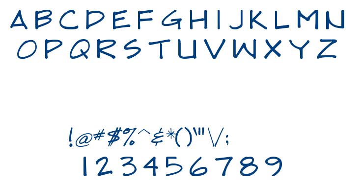 DRAFTSMAN font