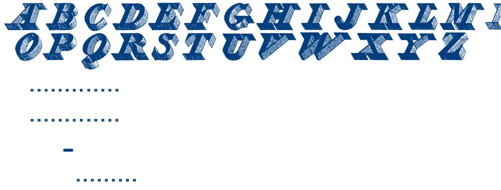 ENGRAVIER INITIALS font