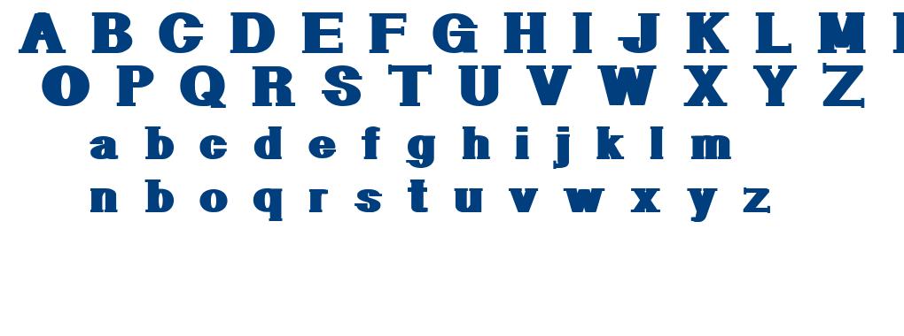 Geometric Serif PW font