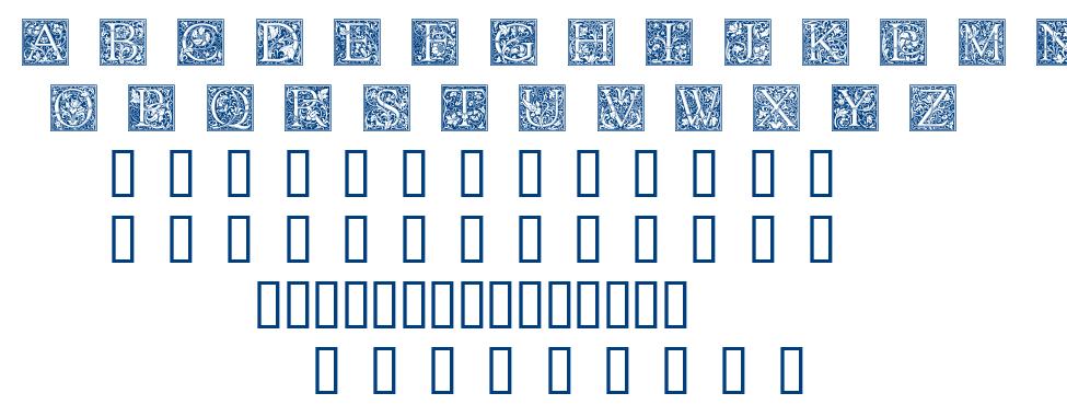 GOUDY INITIALEN font