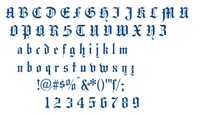 Hansa Gotisch font