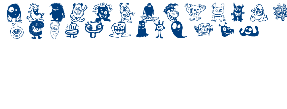 HAPPY MONSTERS font