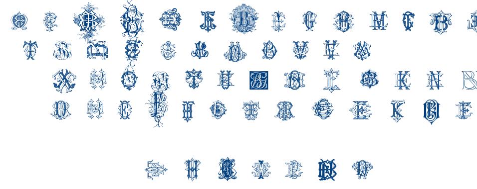 Intellecta Monograms Random Samples Three font