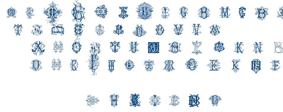 Intellecta Monograms Random Samples Three font
