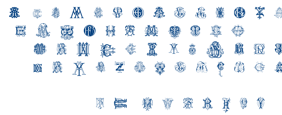 Intellecta Monograms Random Samples Two font