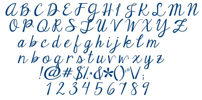 Janda Elegant Handwriting Fontm