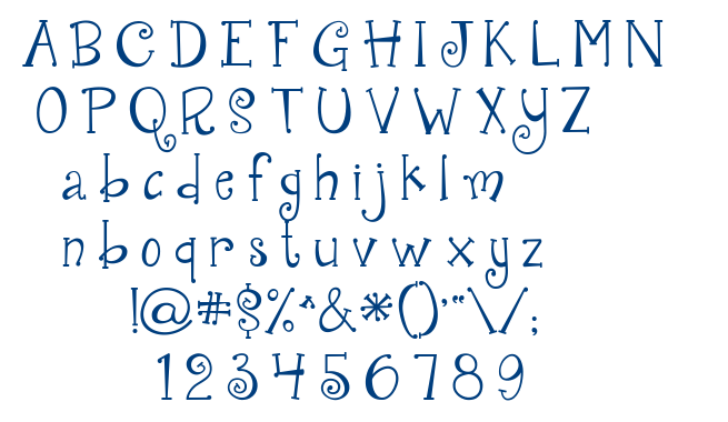 Janda Quirkygirl font