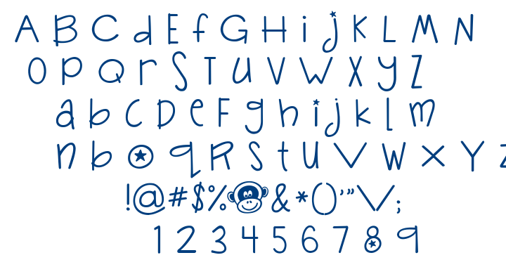 Janda Silly Monkey font