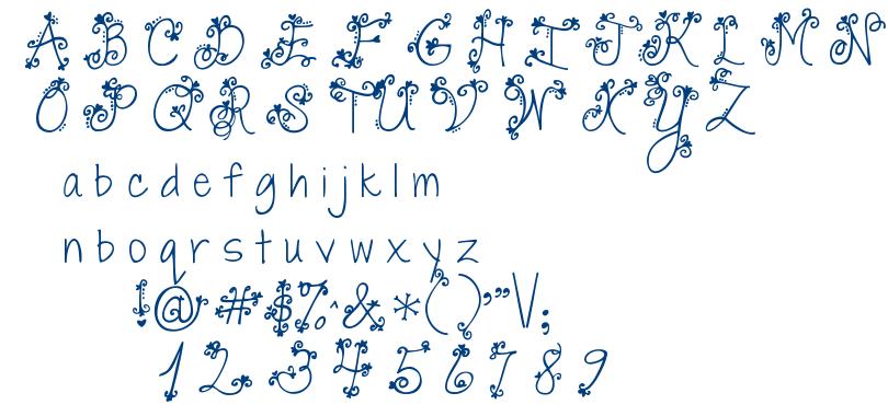 Janda Swirly Twirly font