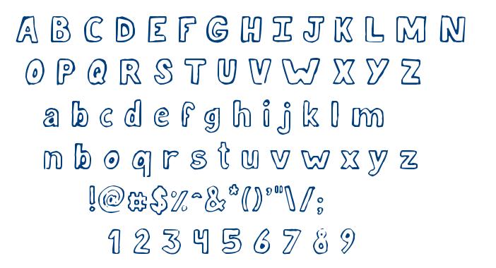 Jellyka Lucky Day font