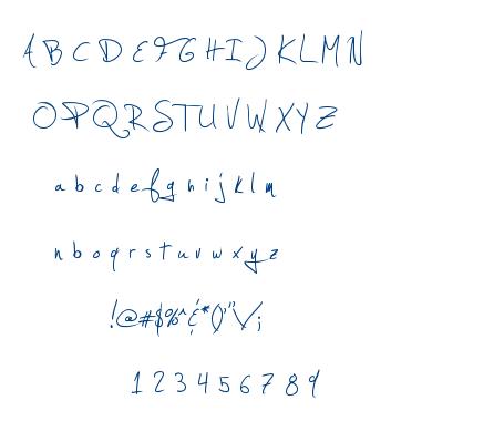 Jellyka – Estrya's Handwriting font
