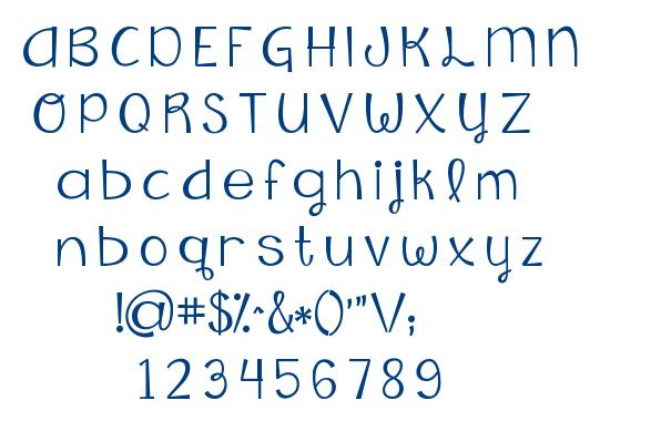 KG Falling Slowly font