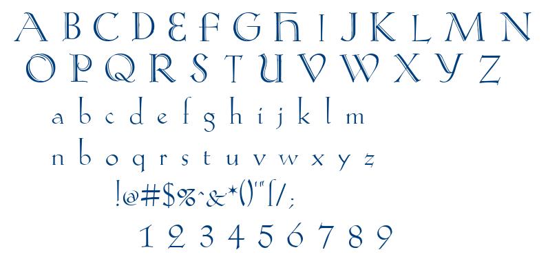 Koch-Antiqua Zier font