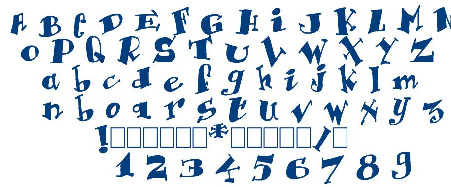 Krazy font