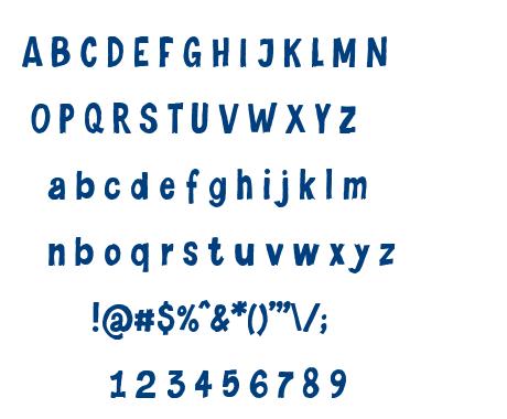 Levi Naive Letter font