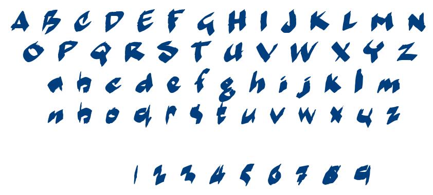 Marker Moe II font