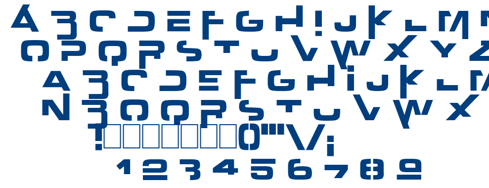 Outer Zone font