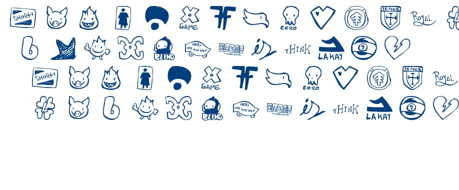 Parody Logoskate font