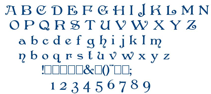 Penshurst font