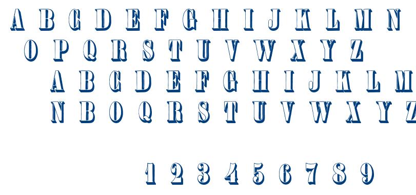 Plastische Plakat Antiqua font