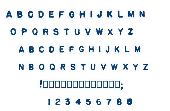 Pulp font