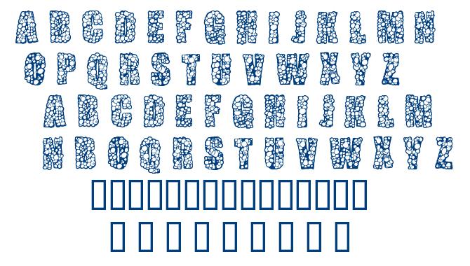 Pustule font