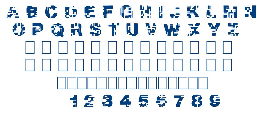 REAL TEK font