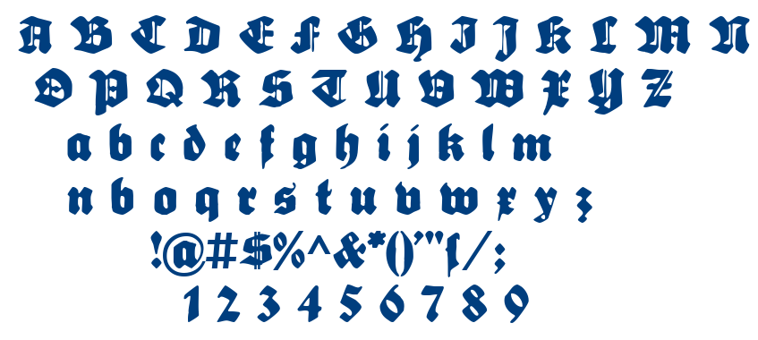 Sebaldus-Gotisch font