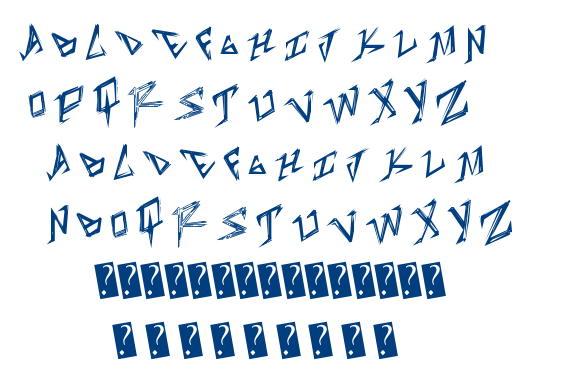 Table Shank font