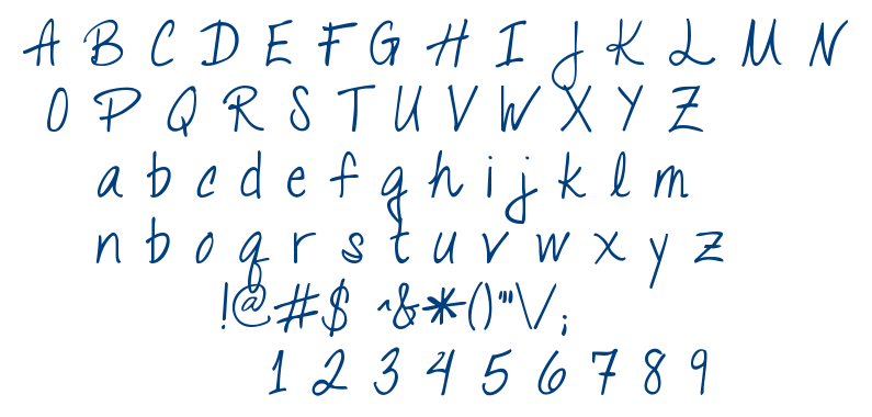 Talking to the Moon font