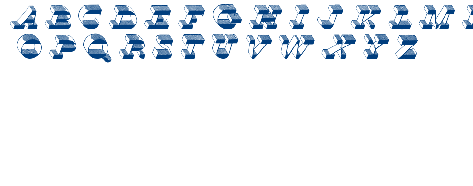 TOP VIEW font