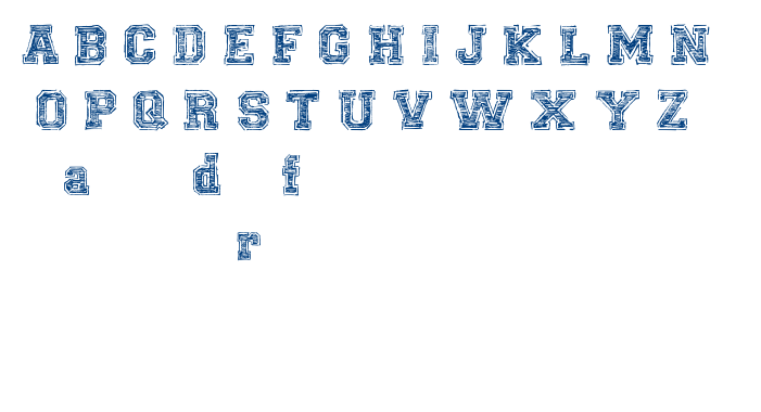 UNIVERSAL COLLEGE DRAFT font
