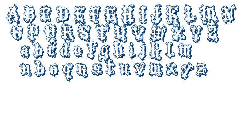 VTKS Tattoo font