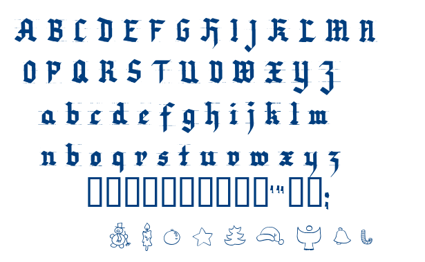 Very Christmess font