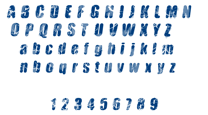 Vtks Hardness font
