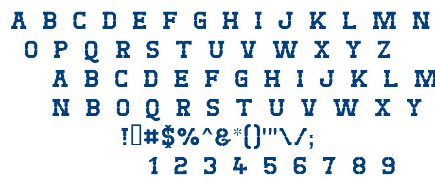 West Test font