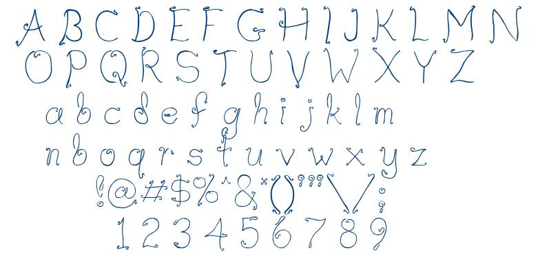 Waif font