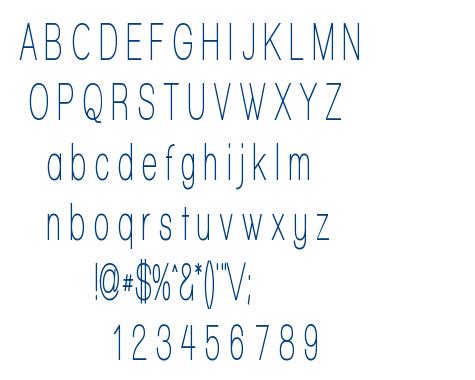 Walkway font