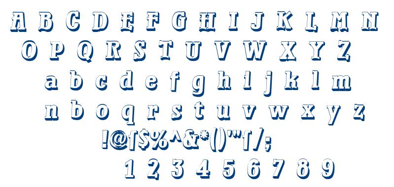 Waterloo Relief font