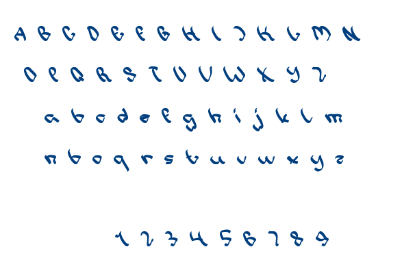 write a letter font