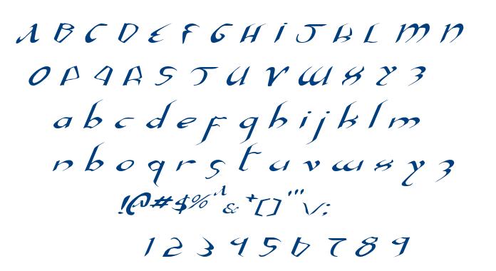 Xaphan font