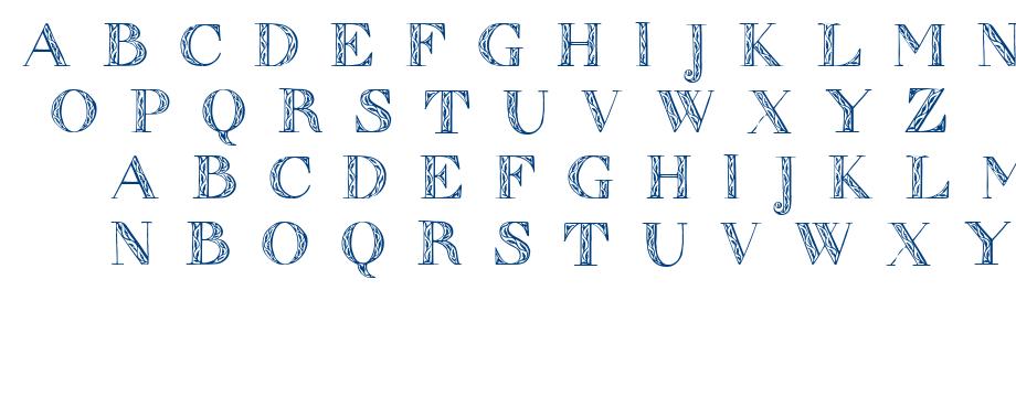 Zierinitialen font