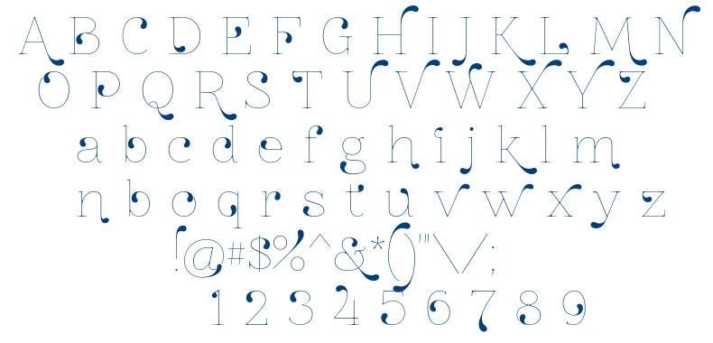 Znikomit No24 font