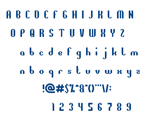 all around the world font